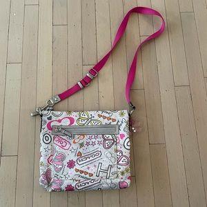 Coach poppy butterfly graffiti shoulder bag purse
